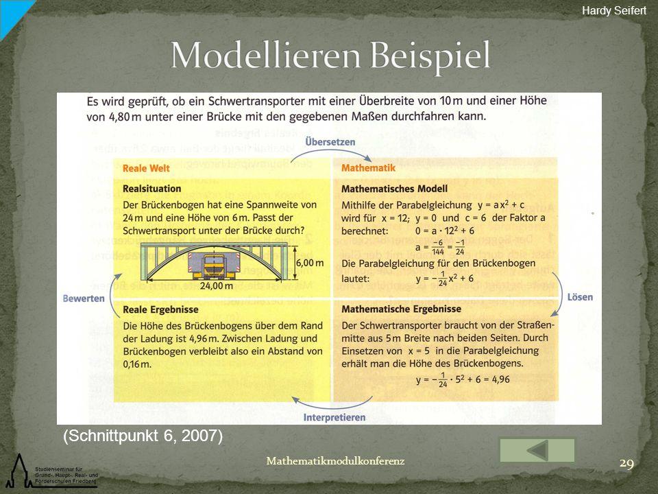 Modellieren Beispiel (Schnittpunkt 6, 2007) Hardy Seifert
