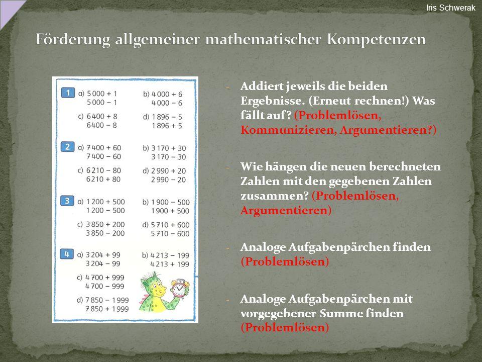 Förderung allgemeiner mathematischer Kompetenzen