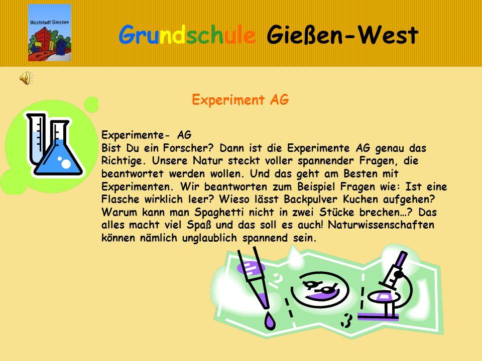 Experiment AG Experimente- AG