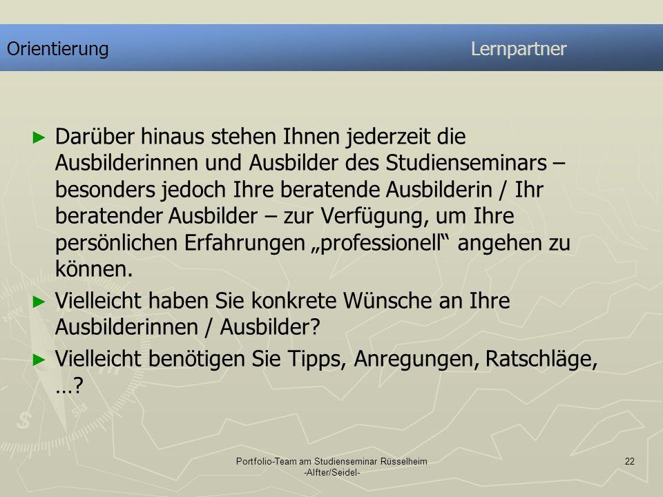 Portfolio-Team am Studienseminar Rüsselheim -Alfter/Seidel-