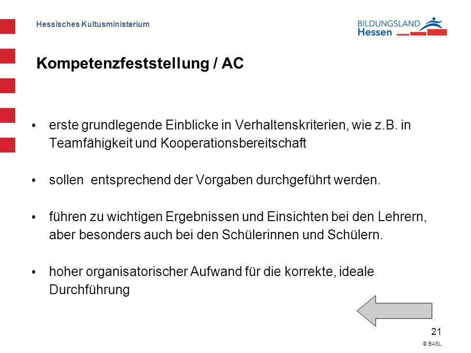Kompetenzfeststellung / AC