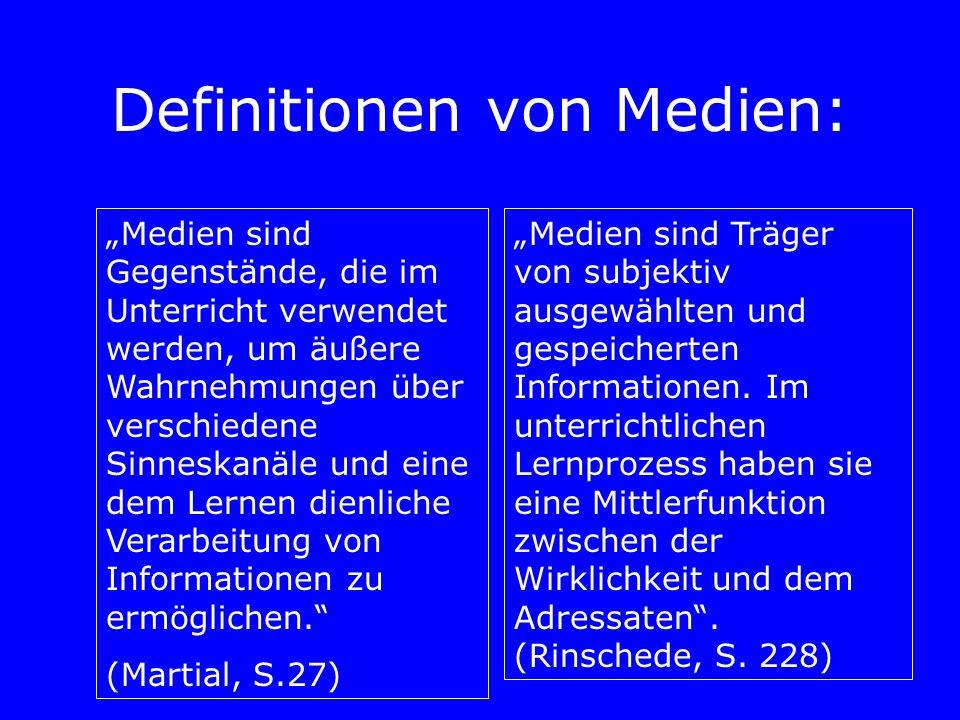 Definitionen von Medien: