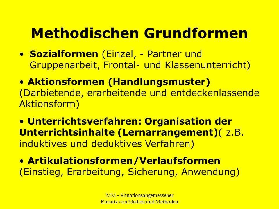 Methodischen Grundformen