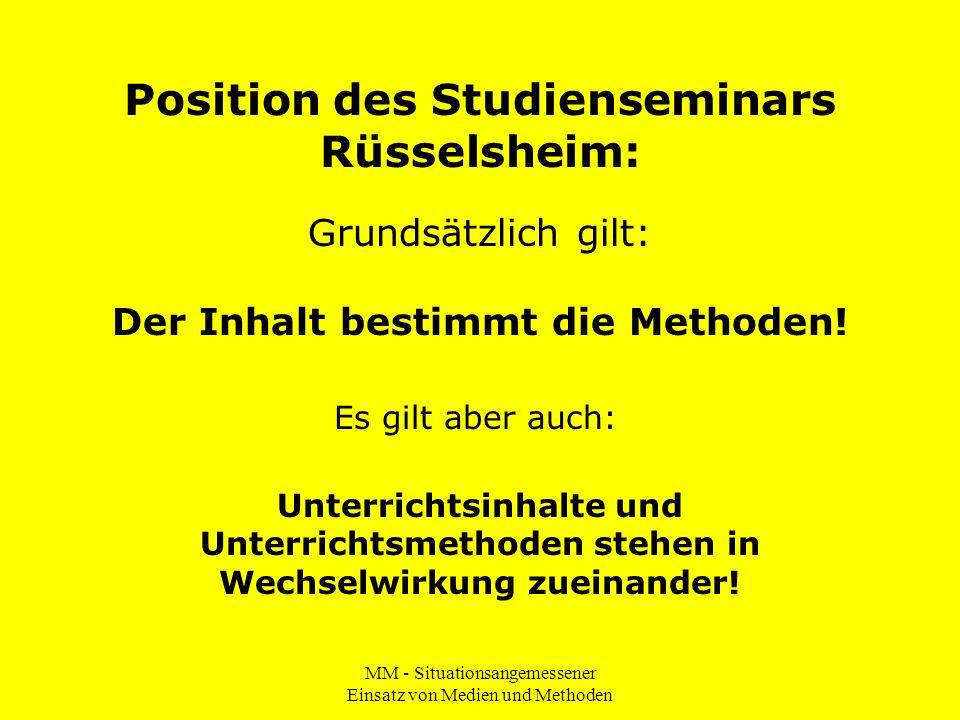 Position des Studienseminars Rüsselsheim: