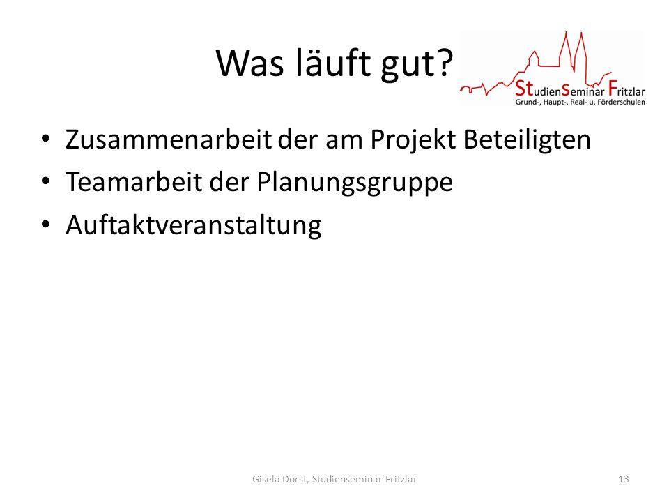 Gisela Dorst, Studienseminar Fritzlar