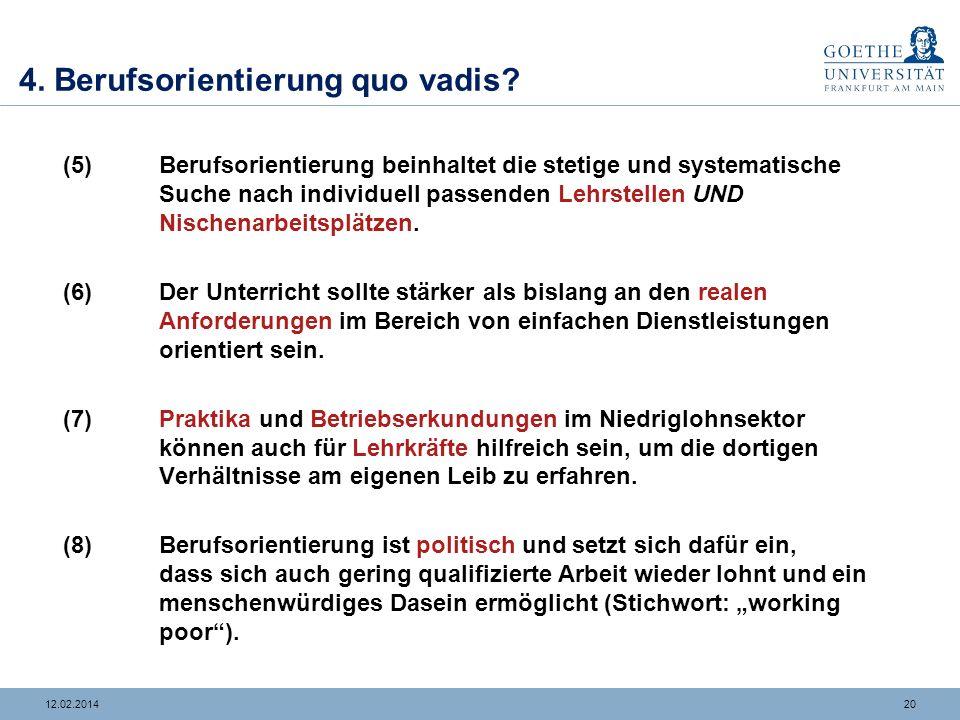 4. Berufsorientierung quo vadis