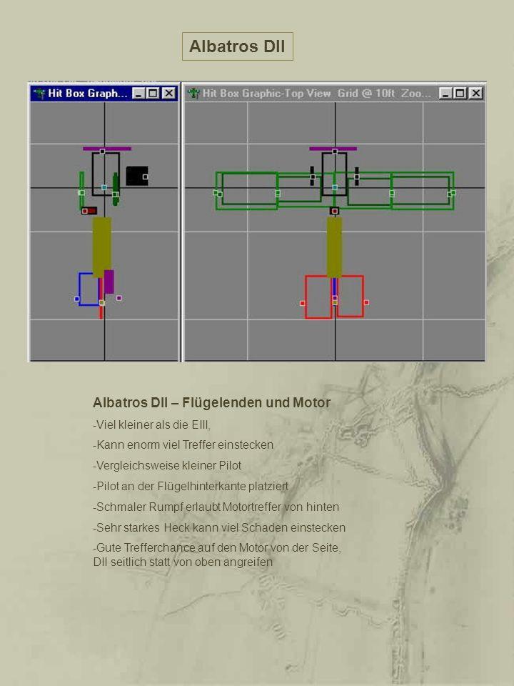 Albatros DII Albatros DII – Flügelenden und Motor