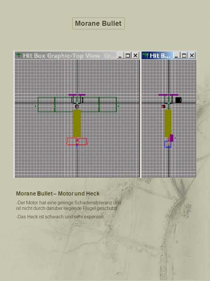 Morane Bullet Morane Bullet – Motor und Heck
