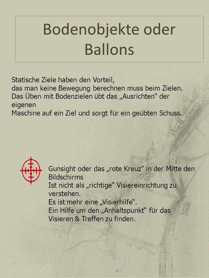 Bodenobjekte oder Ballons