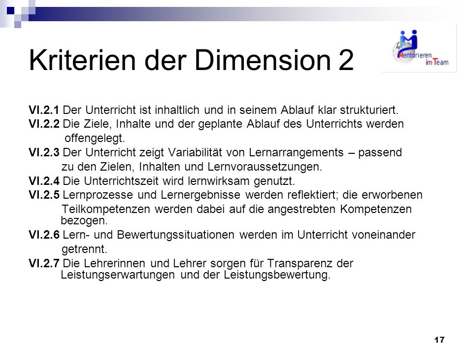 Kriterien der Dimension 2