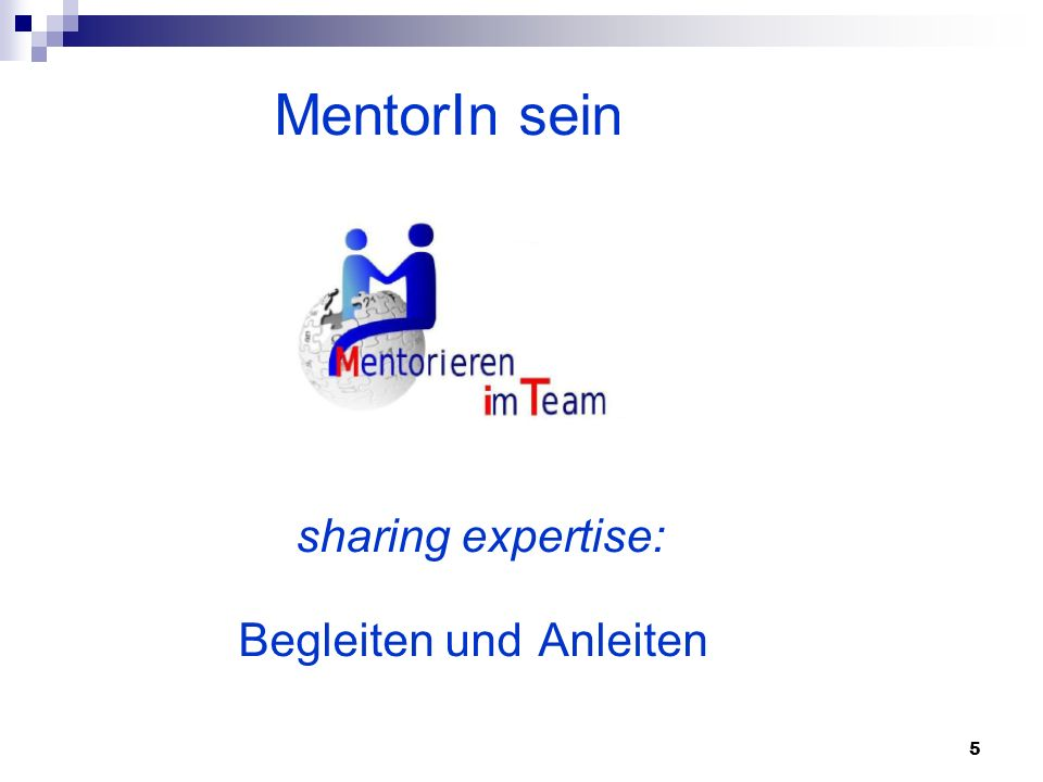 MentorIn sein sharing expertise: Begleiten und Anleiten