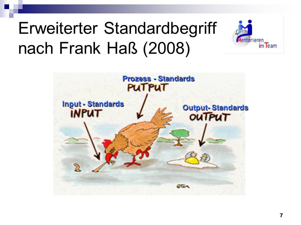 Erweiterter Standardbegriff nach Frank Haß (2008)
