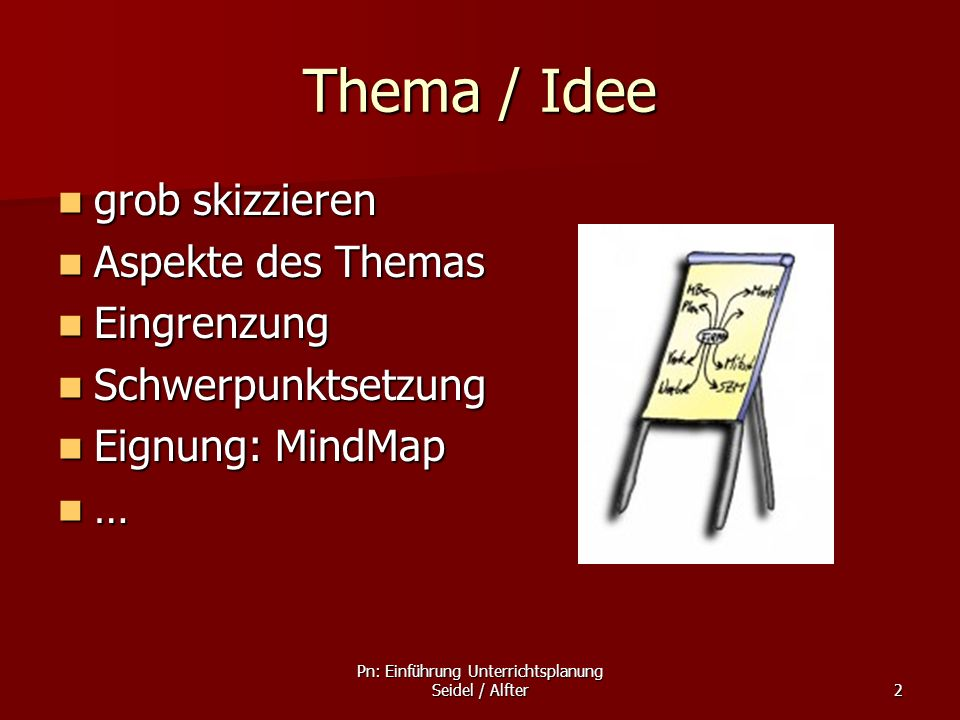 Pn: Einführung Unterrichtsplanung Seidel / Alfter