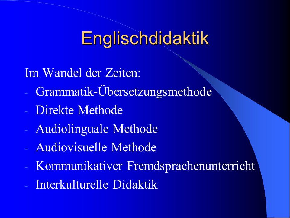 Englischdidaktik Im Wandel der Zeiten: Grammatik-Übersetzungsmethode