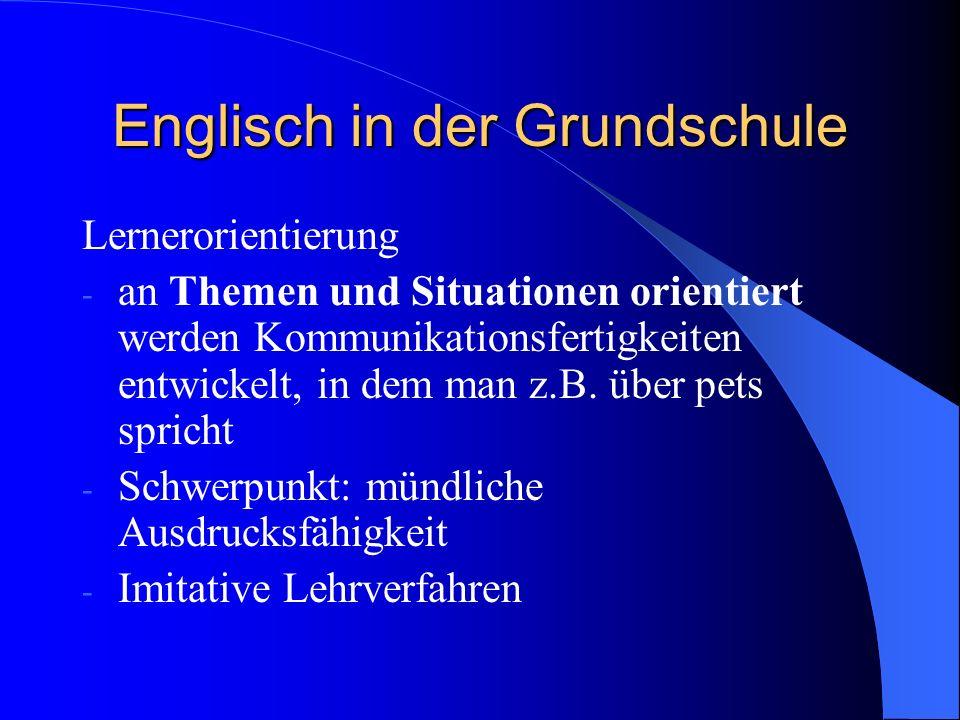 Englisch in der Grundschule