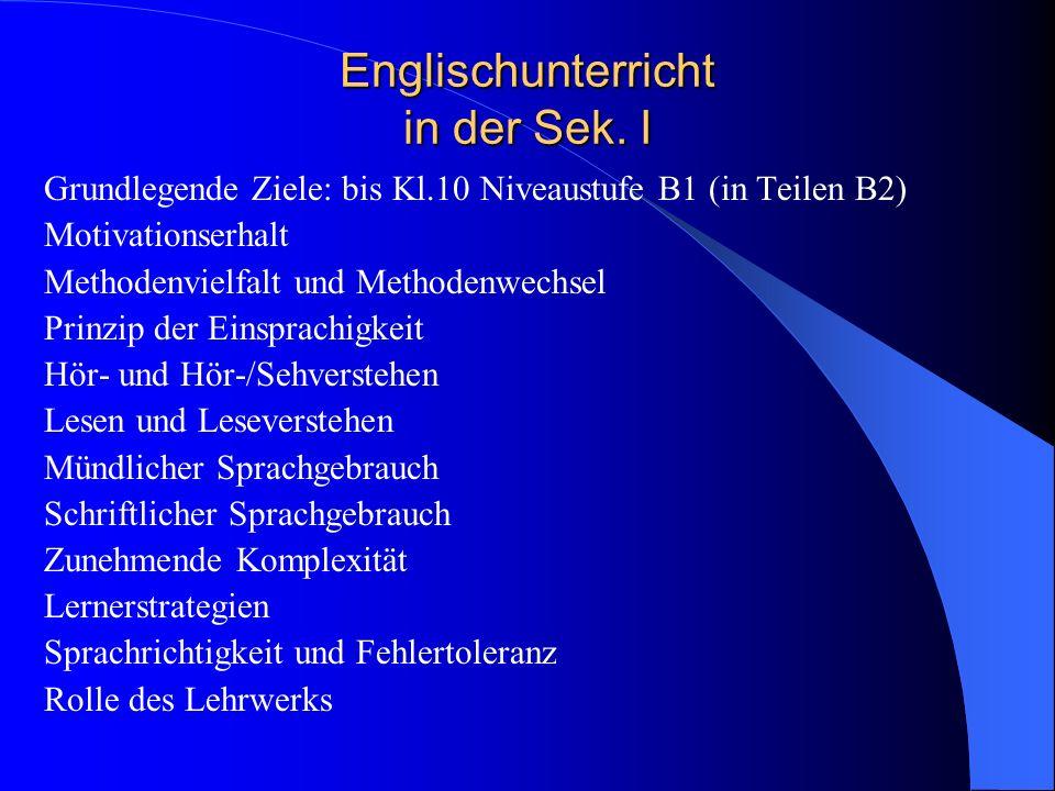 Englischunterricht in der Sek. I