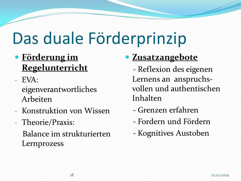 Das duale Förderprinzip