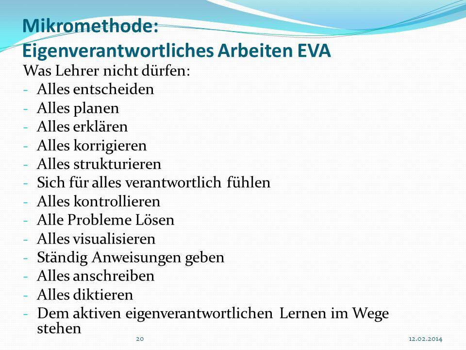 Mikromethode: Eigenverantwortliches Arbeiten EVA