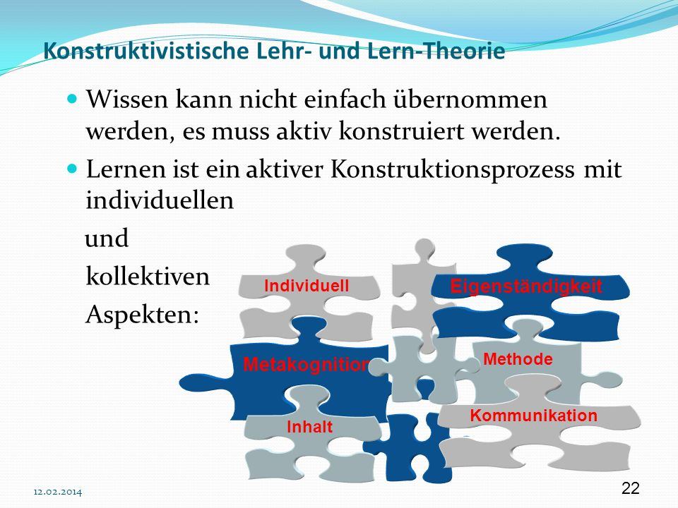 Konstruktivistische Lehr- und Lern-Theorie