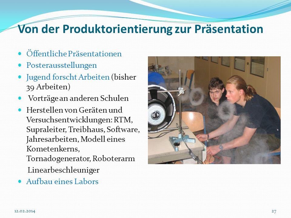 Von der Produktorientierung zur Präsentation
