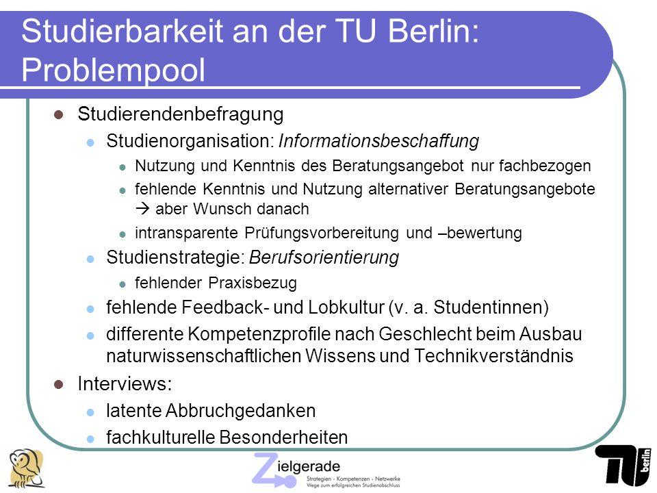 Studierbarkeit an der TU Berlin: Problempool