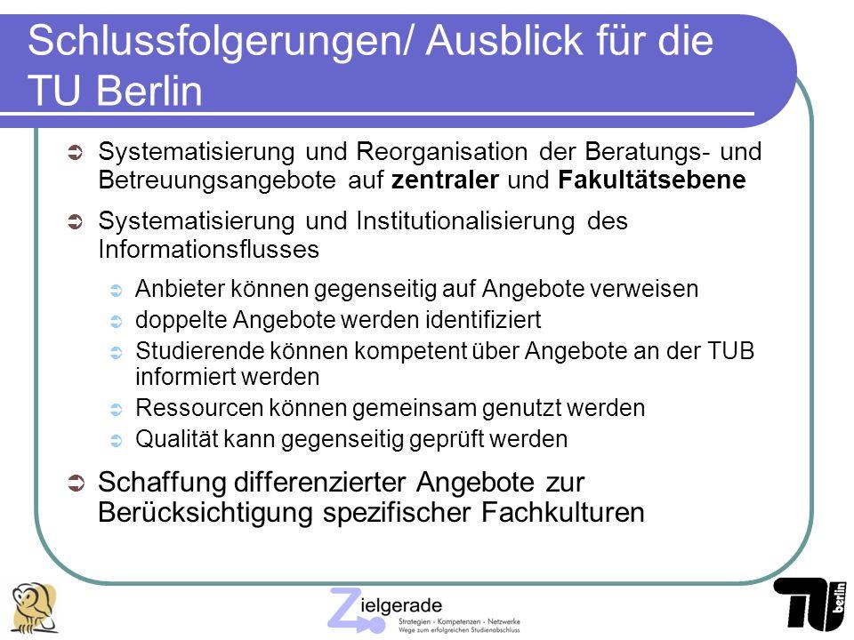 Schlussfolgerungen/ Ausblick für die TU Berlin