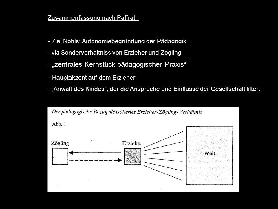 """zentrales Kernstück pädagogischer Praxis"