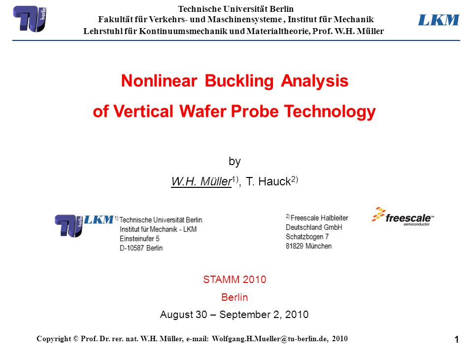 Nonlinear Buckling Analysis of Vertical Wafer Probe Technology