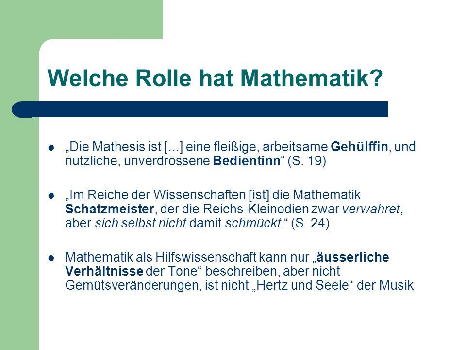 Welche Rolle hat Mathematik