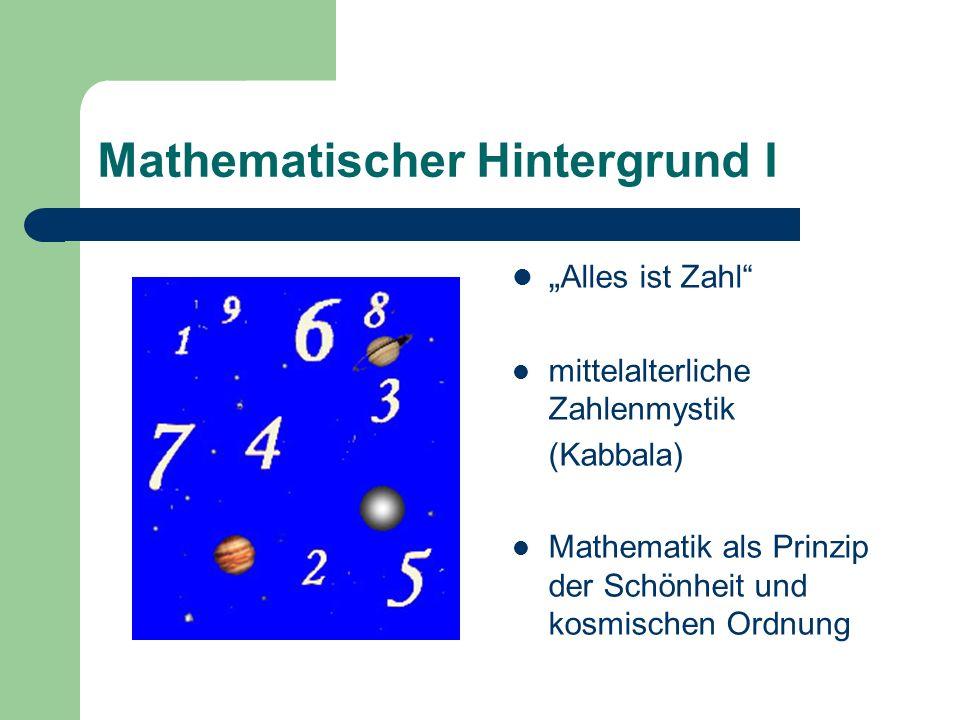 Mathematischer Hintergrund I