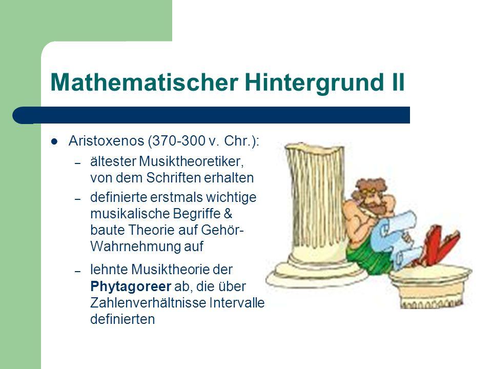 Mathematischer Hintergrund II