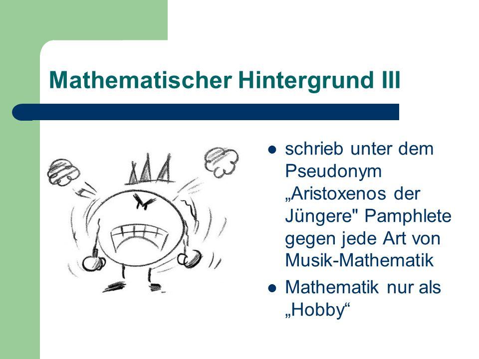Mathematischer Hintergrund III