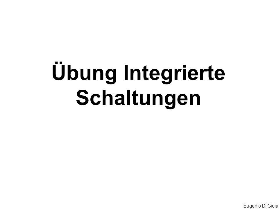 Übung Integrierte Schaltungen