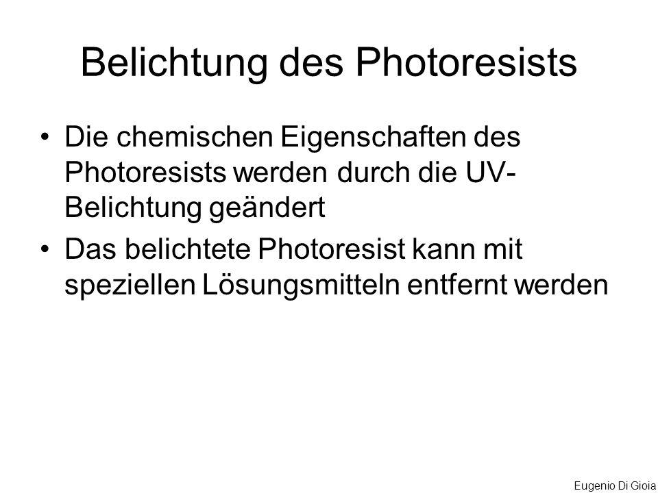 Belichtung des Photoresists