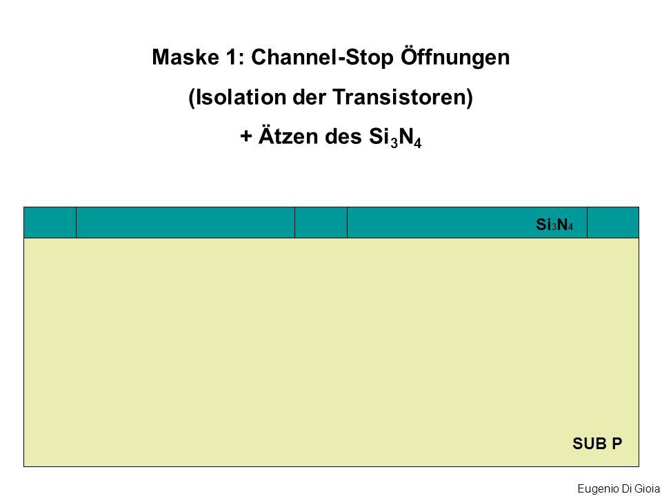 Maske 1: Channel-Stop Öffnungen (Isolation der Transistoren)