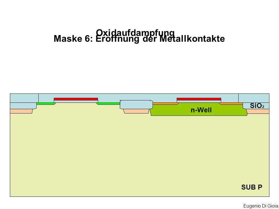 Maske 6: Eröffnung der Metallkontakte