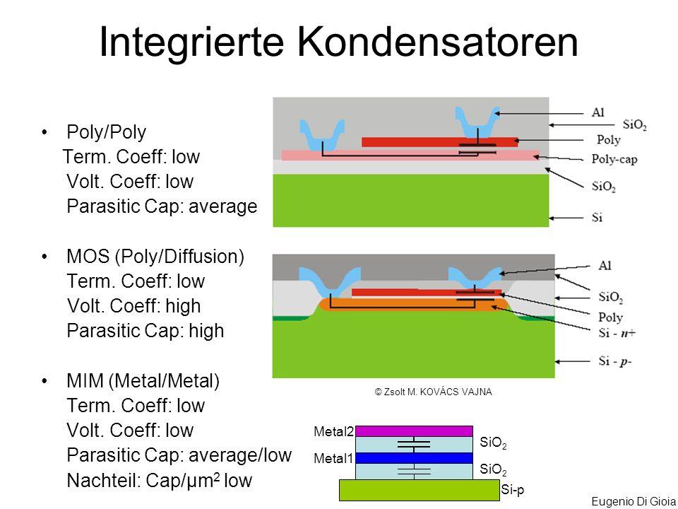 Integrierte Kondensatoren