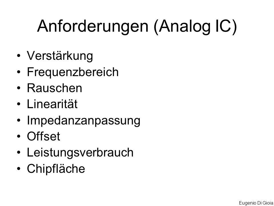 Anforderungen (Analog IC)