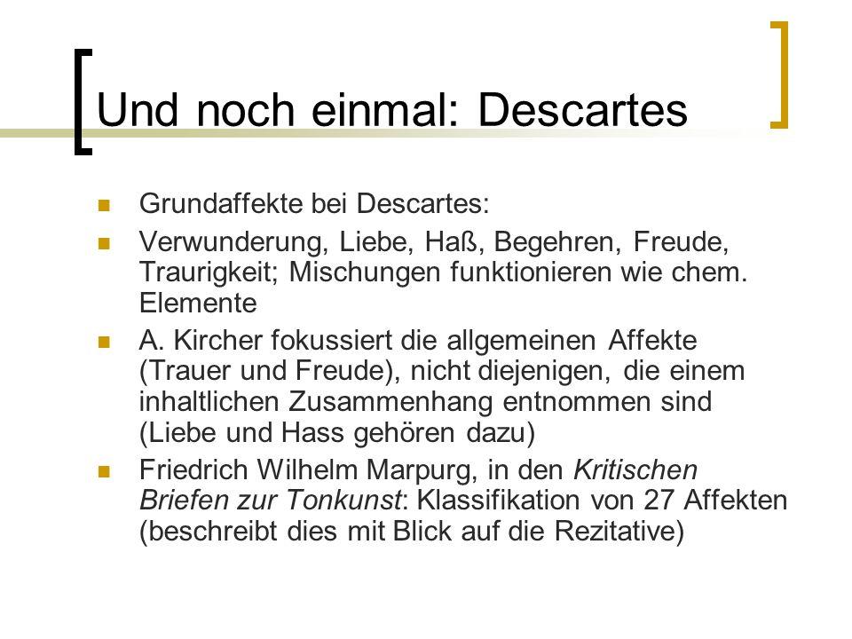 Und noch einmal: Descartes