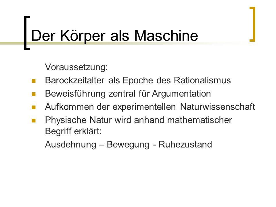 Der Körper als Maschine