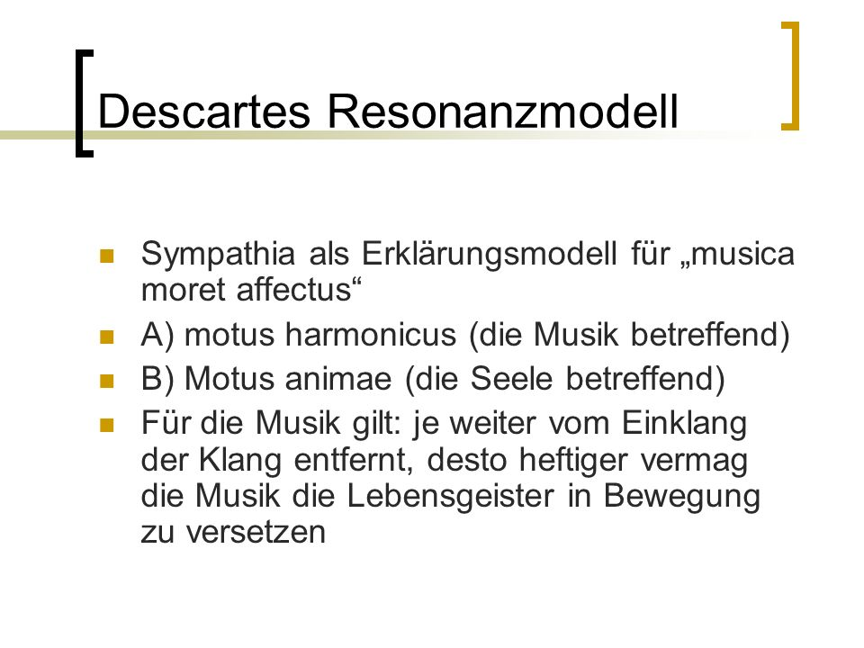 Descartes Resonanzmodell