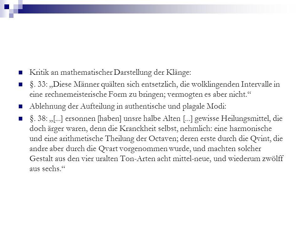 Kritik an mathematischer Darstellung der Klänge: