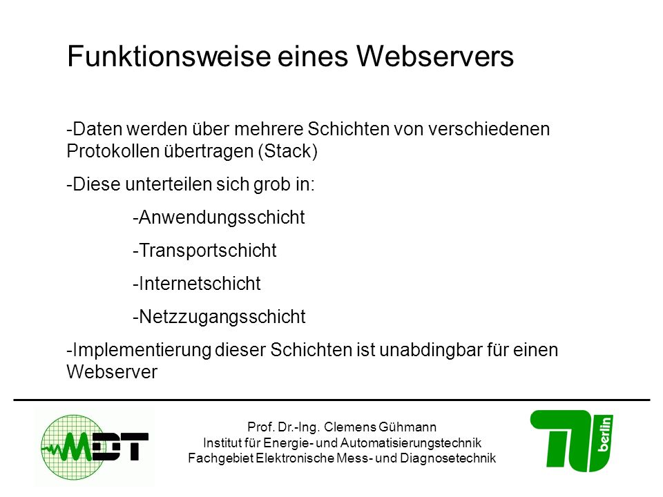 Funktionsweise eines Webservers