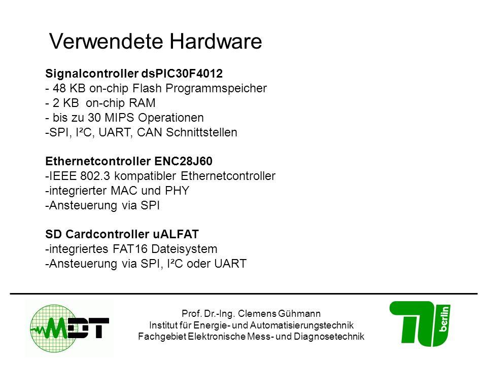 Verwendete Hardware Signalcontroller dsPIC30F4012