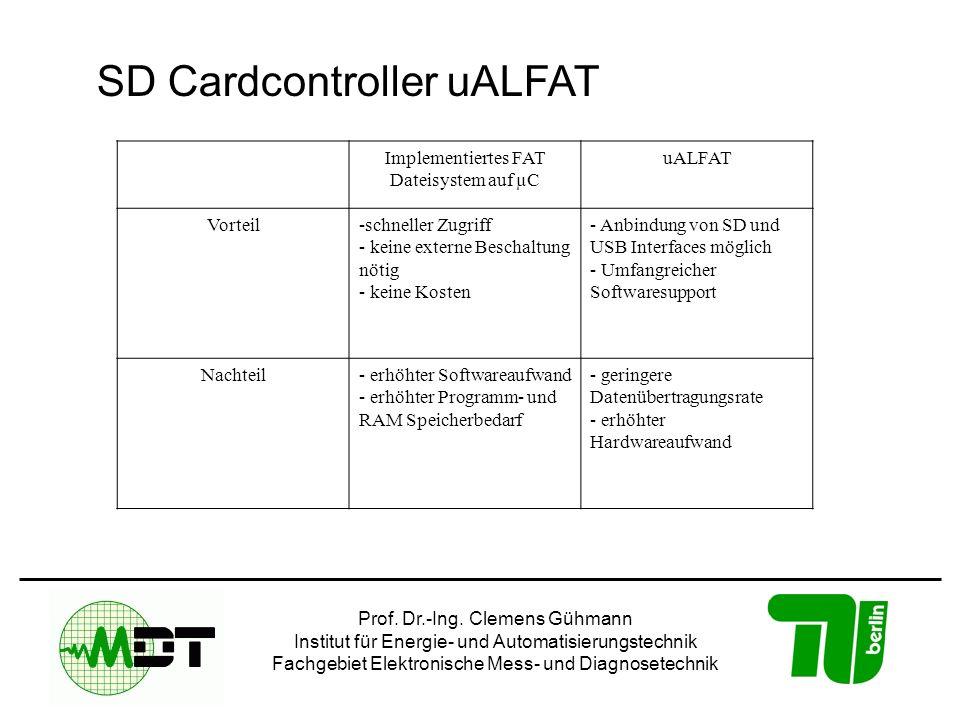Implementiertes FAT Dateisystem auf µC