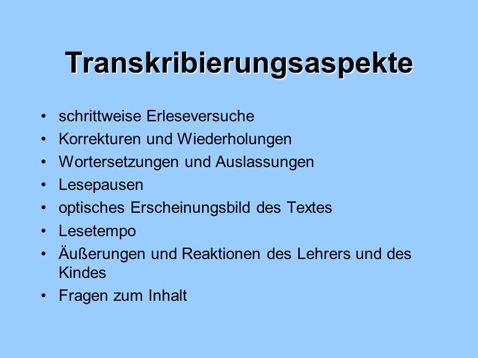 Transkribierungsaspekte