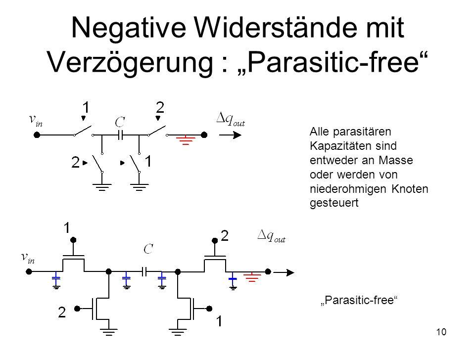 """Negative Widerstände mit Verzögerung : """"Parasitic-free"""