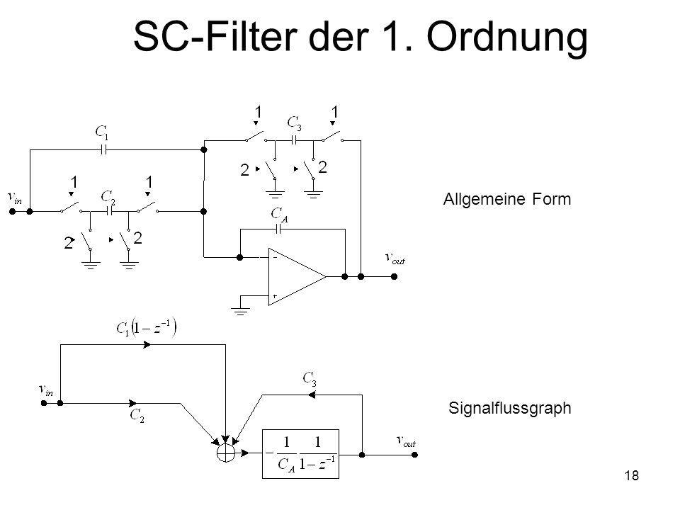 SC-Filter der 1. Ordnung Allgemeine Form Signalflussgraph