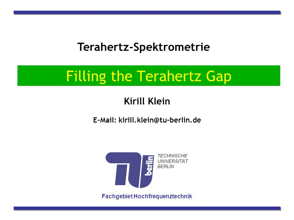 Filling the Terahertz Gap