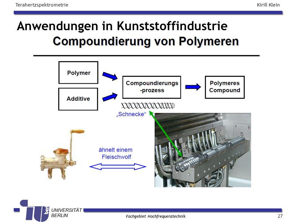 Anwendungen in Kunststoffindustrie